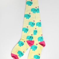 Sock It To Me Manatee Knee-High Socks - Cream