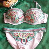 White and green Totem sexy bikini from Fanewant