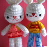 Pdf Charlie And Angel Bunny Amigurumi Crochet Pattern