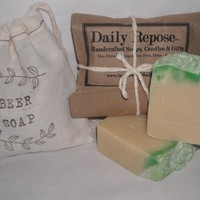 Valentine's Day CORONA BEER SOAP In Bag- Natural Vegan Soap Guy Gift