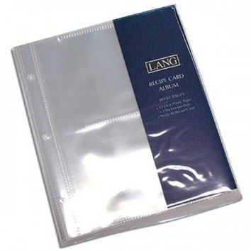 LANG 2 POCKET RECIPE CARD ALBUM REFILL PAGES
