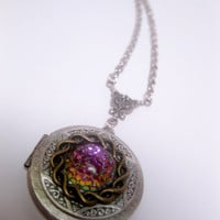 Fantasy Geekery Galaxy Porthole Locket Necklace
