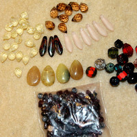 Mixed Czech Gemstone Bead Lot Detash Bulk Beads For Jewelry Making - Lot 9