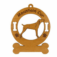 3577 Mountain Cur Standing Personalized Dog Ornament
