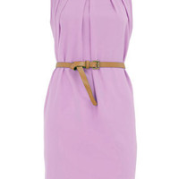 Lilac sleeveless belted dress - Alice & You - Brands at DP - Clothing - Dorothy Perkins
