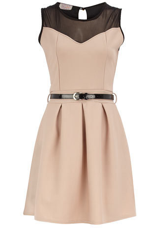 Mocha sweet-heart dress - Day Dresses - Dresses - Clothing - Dorothy Perkins