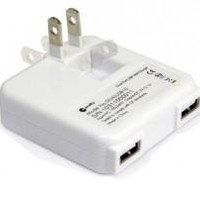 Dual Port USB Power Adapter for iPad, iPhone &amp; iPod