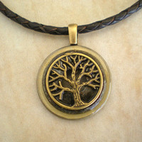 Tree of Life Necklace: Chocolate - Tree Jewelry - Men's Necklace - Men's Jewelry - Wiccan Jewelry - Unique Jewelry - Celtic Jewelry