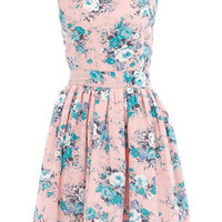 Pink floral print dress - Day Dresses - Dresses - Dorothy Perkins