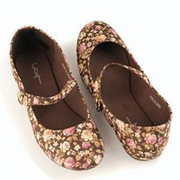 Cotton Floral Flats
