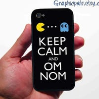 iphone 4 4s case Keep Calm PacMan Design by Graphicpals on Etsy