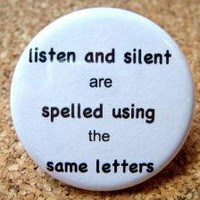 Listen and Silent are Spelled Using the Same Leters by BAYMOONSTUDIO