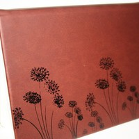 Make a Wish Altered Journal/Notebook/Diary - Brown Leather Appearance
