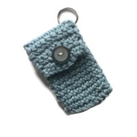 Faded Denim Blue Key chain Pouch
