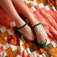 French Dots Slipper Socks