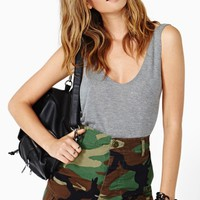 Take Charge Camo Cutoff Shorts