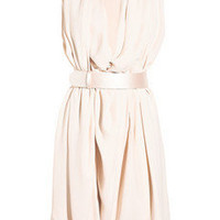 Alexander McQueen|Cowl-neck crepe wrap dress