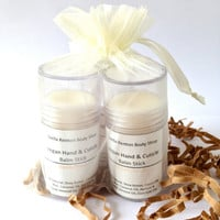 Three Hand & Cuticle Balm Sticks, Gift Set, Solid Lotion, Vegan, Natural