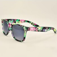 Cute Mixed Flora Print Frame Sunglasses FDS183