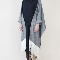 ffiXXed Trench Scarf with Sleeves - Navy « Pour Porter