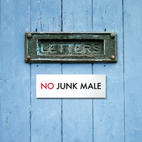 Funny No Junk Mail Sign for the Letterbox. Engrish by SignFail