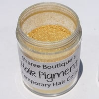 Bright Gold Hair Pigment - Temporary Hair Color - Hair Chalk Alternative - Colored Sparkle Dust