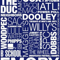 Emory University Pride Print  - Fun Prints - Wall