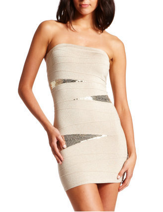 Charlotte Russe - Sequin-Inset Shimmer Dress