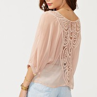 Crochet Tie Top - Blush in  What's New at Nasty Gal