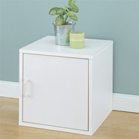 Single Door Storage Cube Bedside Table - Dorm room organizing space saver collee dorm organizer dorm stuff things for college