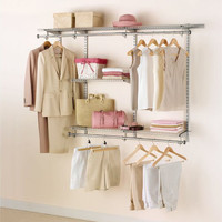 Design Your Own Closet With With The Rubbermaid Configurations Classic Custom Closet Kit | HomeDosh