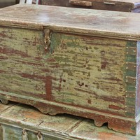 Green Teak Trunk - Trunks & Storage - Bedroom