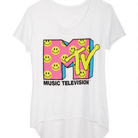 MTV Smiley Faces Tee - White