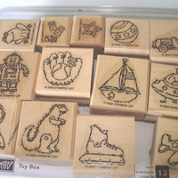Never Used Stampin Up Set of 13 Toy Box 2002 Destash