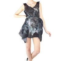 Dark Nebula Cotton Voile Spring Galaxy Dress. by Shadowplaynyc
