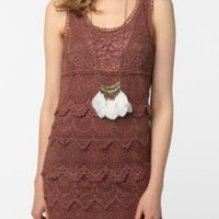 Staring at Stars Tiered Crochet Tank Dress