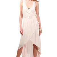 Gypsy05 Paige Wrap Dress in Pink for sale online from Carolina Boutique in downtown Mill Valley