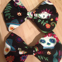 Sugar Skull Hair Bow