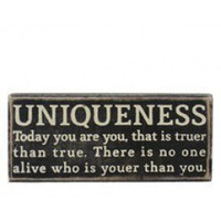 uniqueness plaque