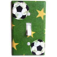 Soccer Field Single Toggle Switch Plate