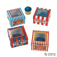 Big Top Cupcake Boxes - Oriental Trading