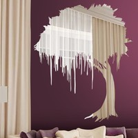 Wall Decals Reflective Mystical Tree- WALLTAT.com Art Without Boundaries