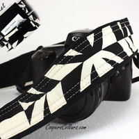 Tiki dSLR Camera Strap, Pocket, Black and Ivory, Geometric, SLR