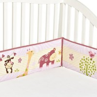 Bedtime Originals Lil' Friends 4 Piece Bumper, Lavender/Pink
