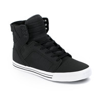 Supra Skytop Black Express Tuf Canvas Skate Shoe at Zumiez : PDP