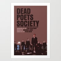 Dead Poets Society Movie Poster Art Print by FunnyFaceArt