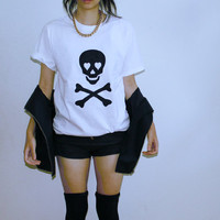 skull heart bone shirt