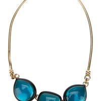Yves Saint Laurent Vintage Turquoise Snake Necklace