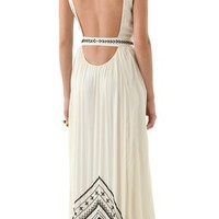 Mara Hoffman Beaded Silk Chiffon Gown | SHOPBOP