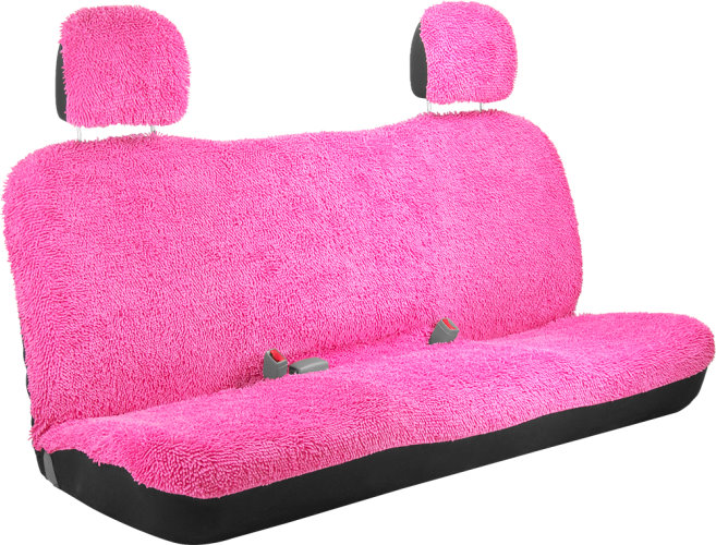 girly shaggy pink bench style back car from car decor products. Black Bedroom Furniture Sets. Home Design Ideas